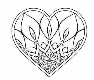 Herzen Zum Ausmalen : ausmalbild herz mandala pinterest herz ausmalbild herz malvorlage und ausmalbilder ~ Buech-reservation.com Haus und Dekorationen