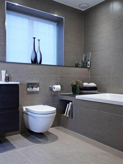 Bad Graue Fliesen  Feldkirchen Badezimmerwaschnische