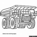 Coloring Mining Pages Getcolorings Truck Dump Printable Firetruck sketch template
