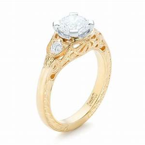 custom vintage diamond yellow gold engagement ring 102797 With vintage wedding rings gold