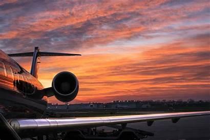 Sunset Airplane Sunrise Sky Air Flying Jet