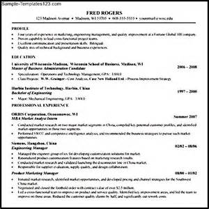 best resume for mba application mba application resume template sle templates