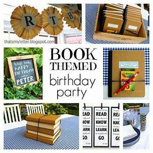 """""""B"""" is for Book Themed Birthday Party - Jaime Costiglio"""