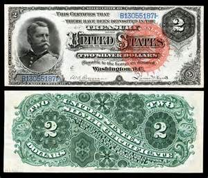 Silver Certificate 2 Dollar Bill