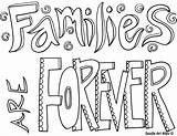 Coloring Forever Families sketch template