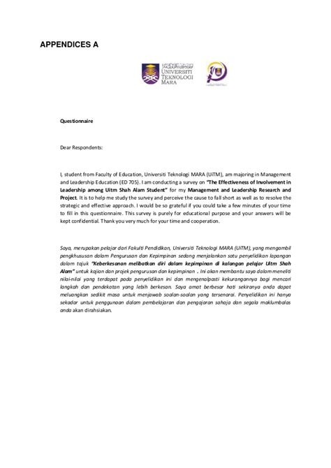 cover letter questionnaire dissertation survey letter sample