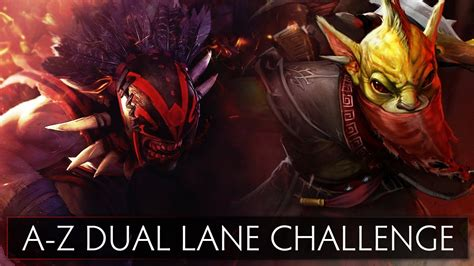 dota 2 a z dual challenge bloodseeker and bounty hunter youtube