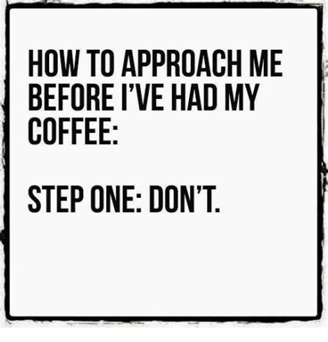 How To Approach Me Before I've Had My Coffee Step One Don't  Dank Meme On Sizzle