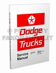 1973 Dodge Truck Repair Shop Manual Pickup Power Wagon