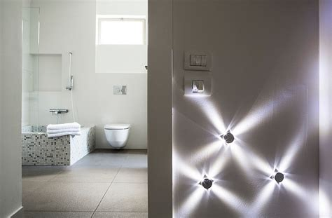 beautiful modern bathroom decoration with led ceiling