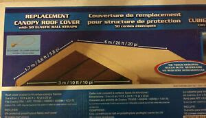 replacement cover costco carport roof top canvas canopy car port nib ebay