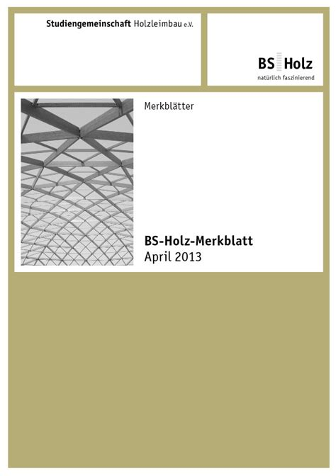 Publikationen Des Informationsdienstes Holz by Publikationen Des Informationsdienstes Holz Geneigtes