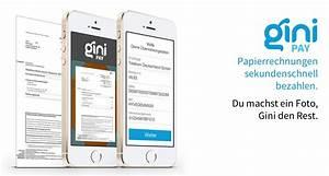 Bank Pay Rechnung : gini pay rechnungen abfotografieren und berweisungsdaten automatisch erkennen lassen ~ Themetempest.com Abrechnung