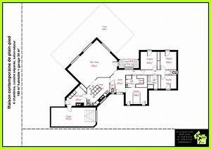 plan maison bois plain pied chambres 33847 sprintco With plan maison bois plain pied 4 chambres