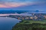 Jeju City, South Korea. View From Sunset Peak. Jeju Island ...