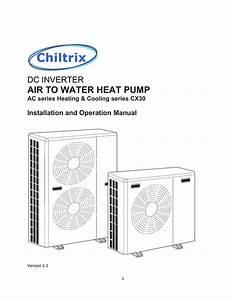 Chiltrix Cx30 Chiller Installation Manual