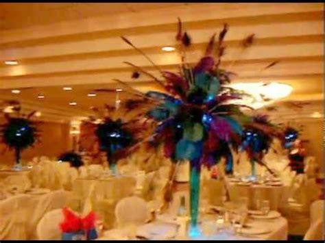 buy sweet 16 centerpiece peacock peacock themed centerpiece rentals by sweet 16 candelabras