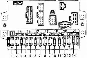 Honda Accord  1981 - 1985  - Fuse Box Diagram