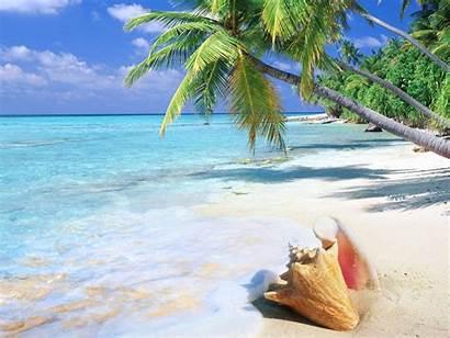 Tropical Beach Wallpapers Desktop Sandy Ocean Island