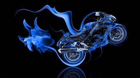 suzuki hayabusa side super fire abstract bike  el tony