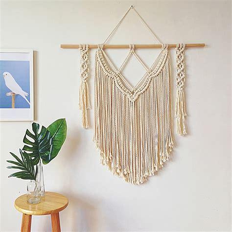 Megan ◠ scandi boho home decor. boho decor Indian Macrame Wall Art Handmade Cotton Wall Hanging Tapestry with Lace Fabrics ...