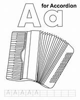 Accordion Coloring Pages Results Practice sketch template