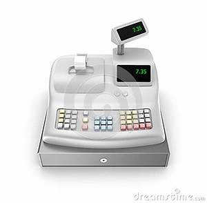 Cash Register. Front View Royalty Free Stock Images ...