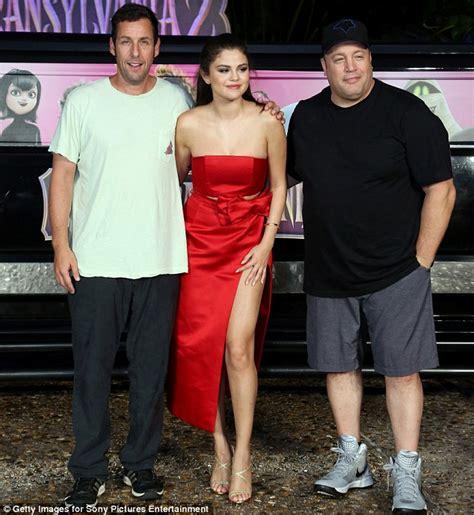 Selena Gomez Displays Legs in Crotch-High Split-Front ...
