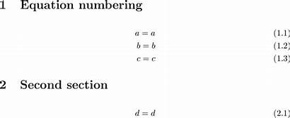 Equation Numbering Class Latex Document Align Stack