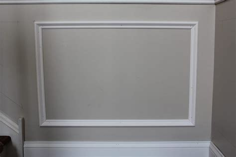 add molding squares   wall wainscoting kitchen