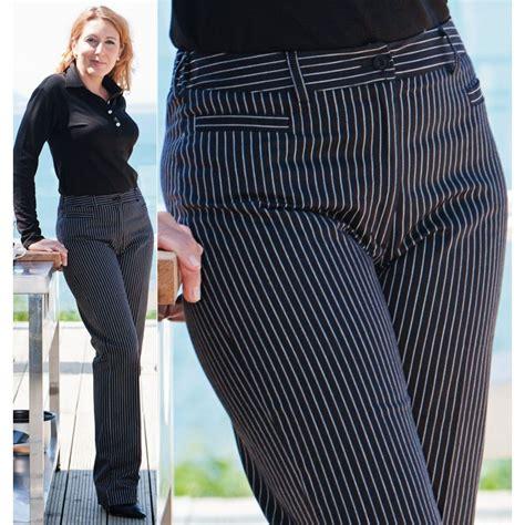pantalon de cuisine femme pantalon de cuisine dame rayures noir et blanc