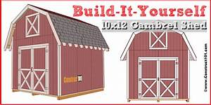 Shed Plans - 10x12 Gambrel Shed - Construct101