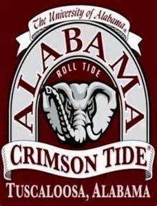 Alabama Crimson Tide Football Decal