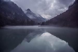 Free, Photo, Mountains, Lake, Mist, Fog, Nature