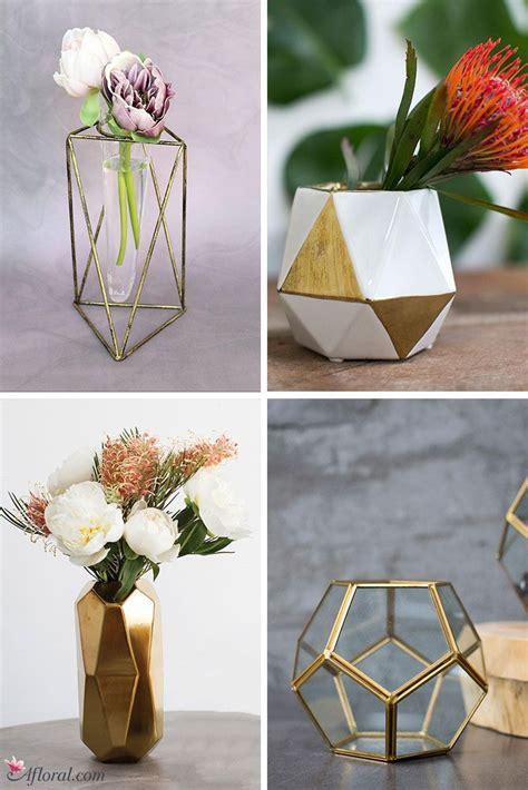 geometric vases   perfect style  create  modern