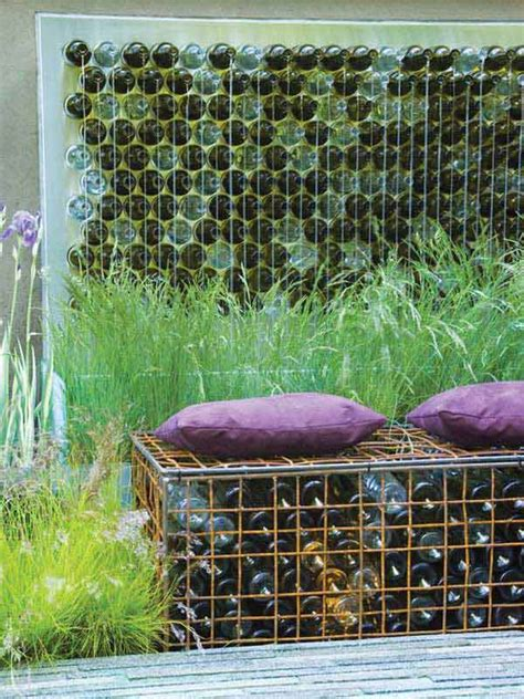 easy diy ideas decorate outdoor space  wine bottles
