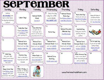 september make the days count activity calendar 375 | 91bbbd475056353ee15958d6915b08a9