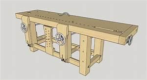 Construire Un établi En Bois : plan etabli type roubo par ebenoswoodshop sur l 39 air du bois ~ Premium-room.com Idées de Décoration