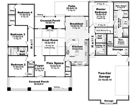 4 bedroom floor plans one 4 bedroom house plans 4 bedroom house floor plan 1