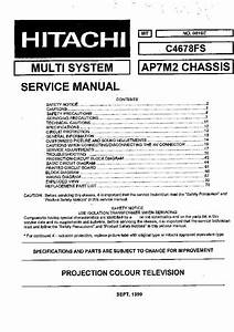 Hitachi C4678fs Chassis Ap7m2  Service Manual  Repair