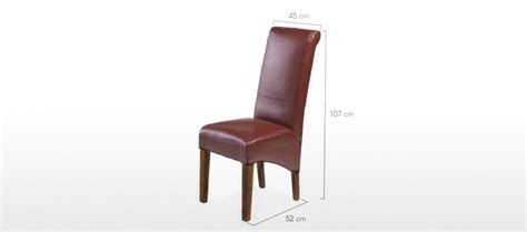 cube bonded leather dining chairs pair quercus living