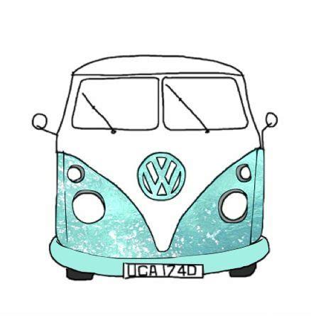volkswagen van hippie blue hippie van hippie van drawing drawing picture