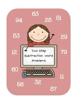 Two Step Subtraction With And Without Regrouping Word
