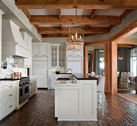 brick floor in kitchen brick floor kitchen kitchen traditional with antique wood 4883