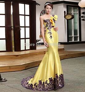 free shipping new arrival long yellow evening dresses for With yellow evening gowns wedding