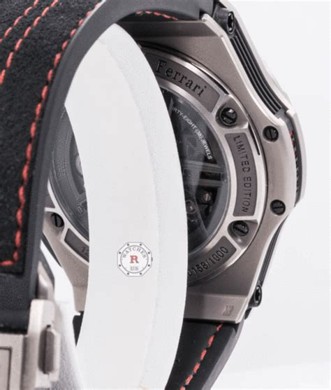 Yes (not pictured) water resistance: Hublot BIG BANG FERRARI UNICO TITANIUM 45 mm Limited Edition - Watches R Us