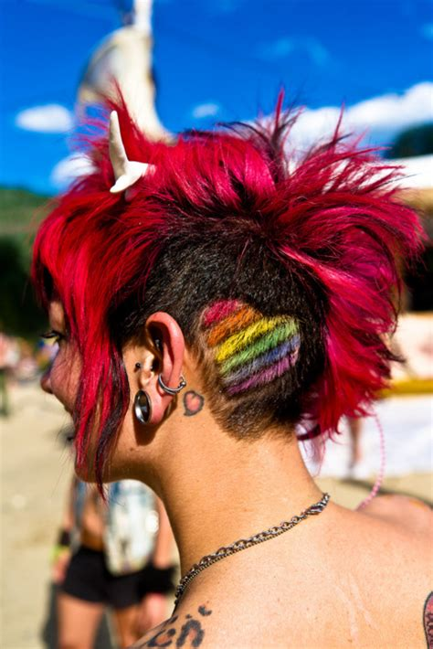 multi colored heart hair colors ideas