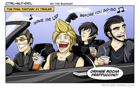 Ffxv Memes - the final fantasy xv trailer by tim buckley ffxv car driving know your meme