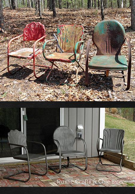 how to paint and metal outdoor chairs painted