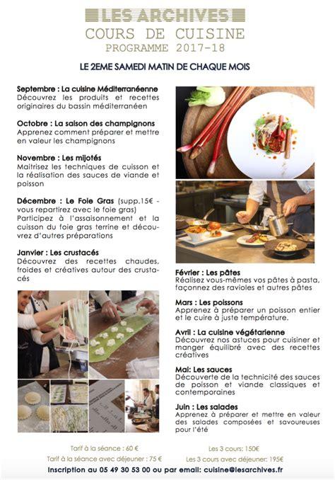 cours cuisine poitiers cours de cuisine poitiers 28 images cours de cuisine